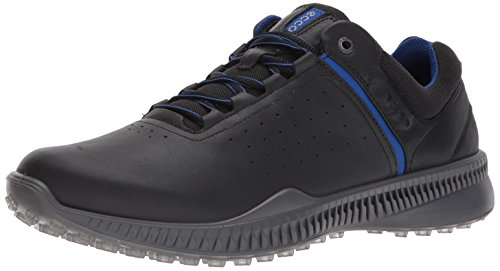 ECCO Men's S-Drive Perforated Golf Shoe, Black/Steel, 43 M EU / 9-9.5 D(M) US