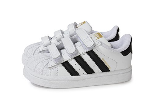 adidas Superstar Foundation Unisex-Kinder Sneakers, Weiß (Foundatio Ftwwht/Cbl), 23 EU