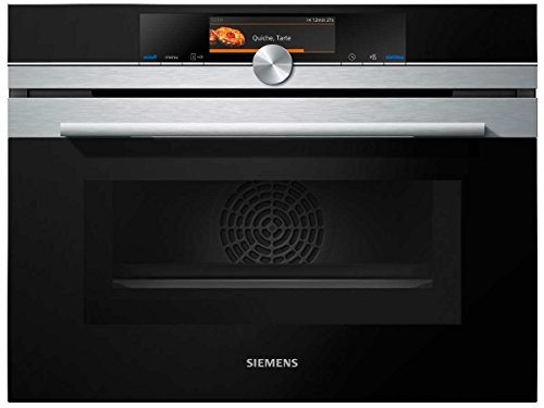 Siemens CM678G4S1 iQ700 Mikrowelle / 1000 W / 45 L Garraum / activeClean - Selbstreinigungs-Automatik / edelstahl