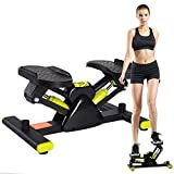 Aprilhp Mini Stepper, Step/Stepper Cardio Fitness, Portátil Maquina de Subir Escaleras Stepper Up-Down con Pantalla, Movimiento en Forma de V, Mini Bicicleta Estatica para Toda la Familia
