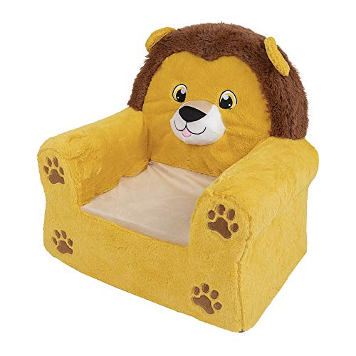 G-on Poltrona in peluche per bambini, set di 3 diversi set di leone, unicorno e elefante (poltrona in peluche leone)