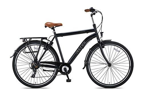 28 Zoll Herren Trekking City Fahrrad Citybike Cityrad Trekkingfahrrad Trekkingrad Herrenfahrrad Cityfahrrad Herrenrad Rad Bike Beleuchtung STVO ALTEC 7 Shimnao Gang TRAVEL Matt SCHWARZ