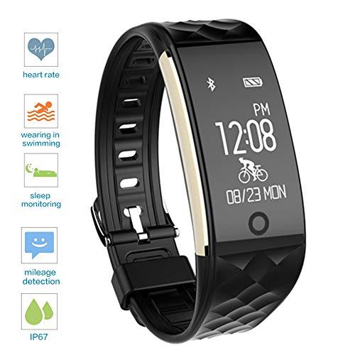 Mengen88 Fitnesstracker, hartslag-tracker, waterbestendig, gezondheidsbewaking, sport, calorieverbruik, app voor Android Phone en iOS