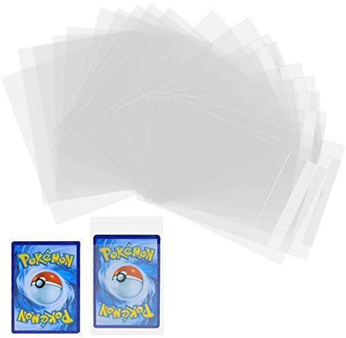 Jinhuaxin Soft Sleeves, 200 Transparent Buste Proteggi Carte, ( 100 Sigillate + 100 Non Sigillato ) Set di Proteggi carte, Safe Protective Sleeves Maniche di Carta per YuGiOh, Pokemon, Ultimate Guard