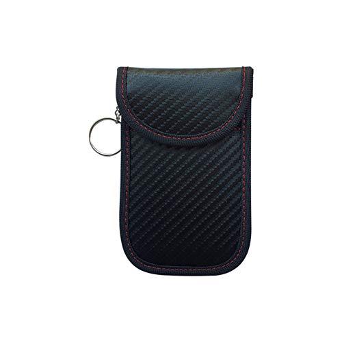 Sarplle Keyless Go Bolsa Protectora Llave del Coche Bloqueador de señal RFID Funda Protectora portátil Key con Llavero para Llaves de Coche