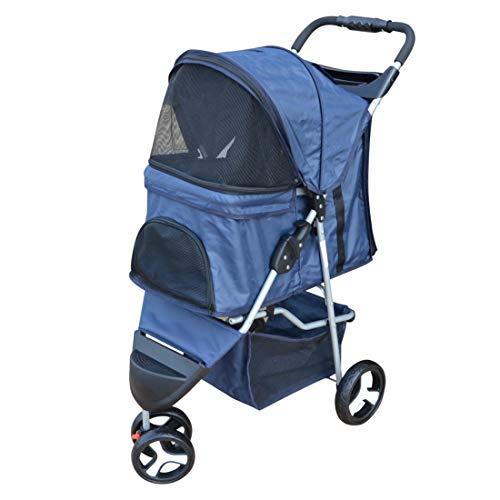 PAPILIOSHOP BALTO Passeggino carrozzina per cane da passeggio trasportino (Blu)