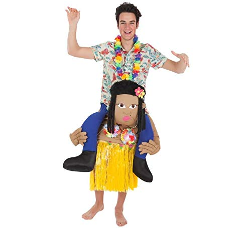 Disfraz de Turista a hombros de Hawaiana para adultos