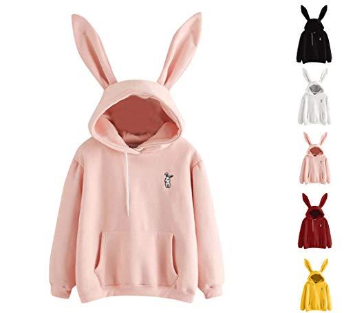 women ladies hoodie rabbit ear