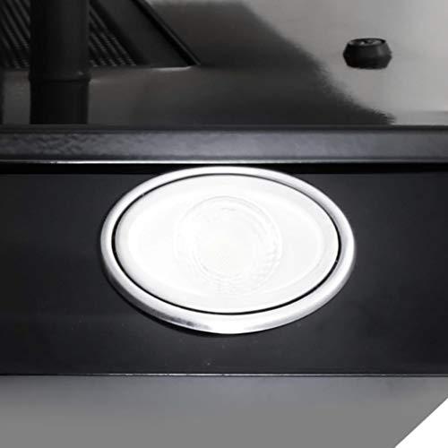 vidaXL Hotte avec LED RVB Hotte Murale Hotte Aspirante Cuisine Intérieur Maison Extrait Graisse Fumée 60 cm Acier Inoxydable et Verre Trempé