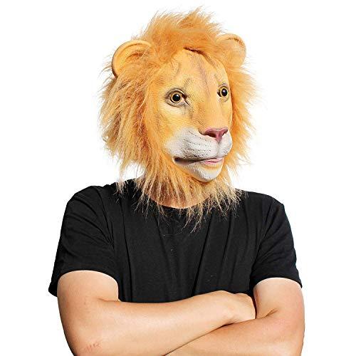 PartyCostume - Der Löwen Maske - Latex Halloween Wald Der Bestie Maske