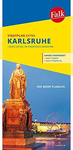 Falk Stadtplan Extra Standardfaltung Karlsruhe mit Ortsteilen von Ettlingen: Pfinztal, Rheinstetten, Weingarten 1:20 000 (Falk Stadtplan Extra Standardfaltung - Deutschland)