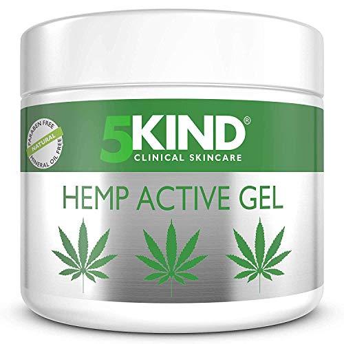 Beruhigendes Hanf-Aktivgel für Muskeln & Gelenke – Sehr wirksame, beruhigende Formel mit Cannabisöl und natürlichen Extrakten von 5kind. Beruhigt Füße, Knie, Rücken, Schultern (500ml)