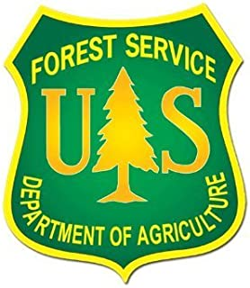 Green US Forest Service Shield Logo Sticker (forestry decal)