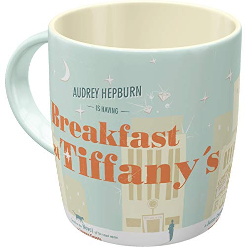 Nostalgic-Art 43023, Breakfast at Tiffany's Blue, Tasse, Keramik, bunt, 8.5 x 8.5 x 9 cm