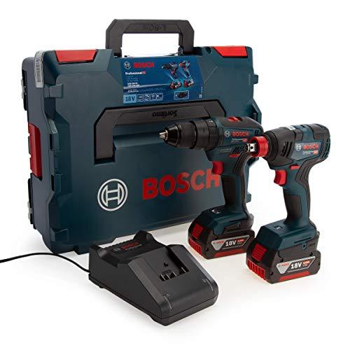 Bosch Professional 06019J2270 GDX 18V-200 + GSB 18V-55 + 2 x GBA 18V 4.0Ah + GAL 18V-40, 18 V