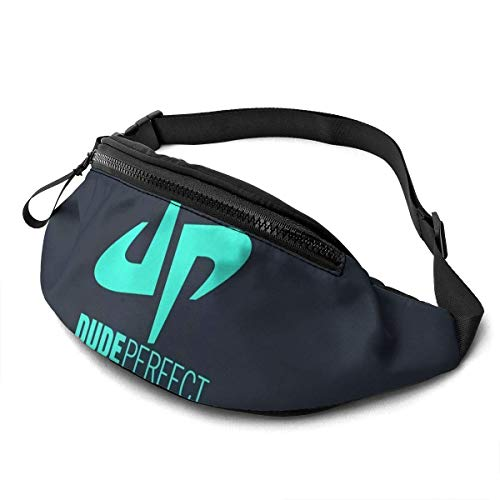 AOOEDM Perfect Badge Casual Waist Bag Men Women with Adjustable with Adjustable Belt Sports Bag Running Bag Keep Fit with Exercise Jogging, Hiking Chest Pack Shoulder Bag