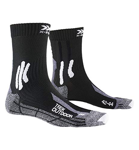 X-Socks Trek Outdoor Socks, Unisex – Adulto, Opal Black/Dolomite Grey Melange, 42-44