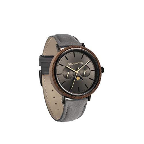 Iron Walnut Grey | WoodWatch Oficial | Hecha a Mano | Movimiento de Cuarzo japonés | Reloj Duradero y a Prueba de Salpicaduras con una Elegante Caja de Madera