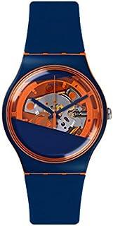 Swatch Mixte Analogique Quartz Montre avec Bracelet en Silicone SUOO102