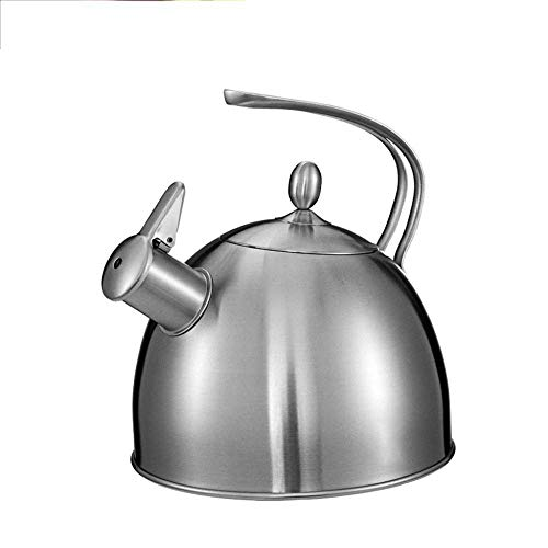 Tetera de acero inoxidable Teteras Hervidor saludable Hervidor 304 Hervidor de gas de acero inoxidable Agua hirviendo Cocina de inducción de gas Silbato Hervidor pequeño Tetera de acero inoxidable