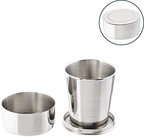 Collapsible cup made of stainless steel by AceCamp