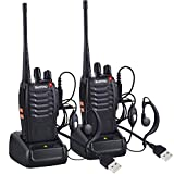 Nestling 2 PCS Talkie Walkie Rechargeable Longue portée 16CH Radio bidirectionnelle Set Talky Walky...