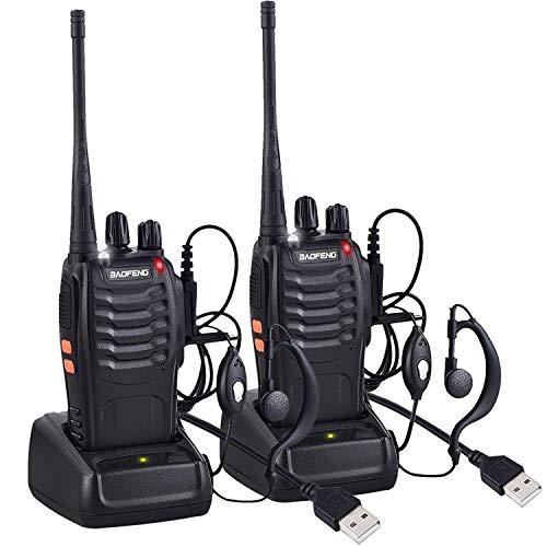 Nestling Talkie Walkie Rechargeable Longue portée 16CH Radio bidirectionnelle Set Talky Walky avec...