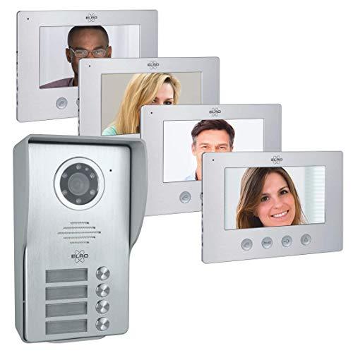 ELRO DV477W4 Videoportero, Gris, 4 Familia
