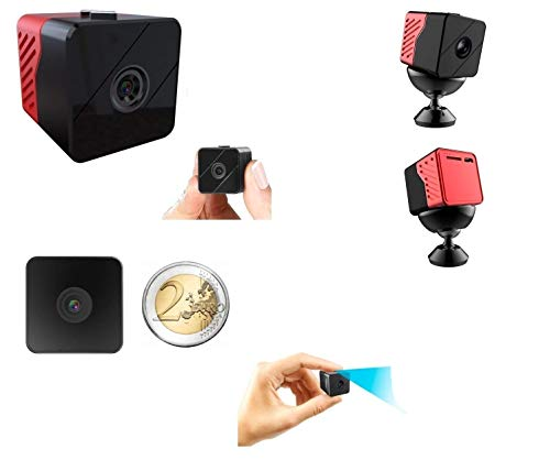 Micro Cámara Espía Audio Video Full HD 1080p Batería Larga autonomía 1 año Visión nocturna Infrarrojos invisibles Led Ojo humano Grabación continua y detección de movimiento Gran angular 110 grados