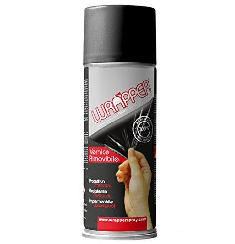 4R Quattroerre.It 16413 Wrapper Spray Vernici Rimovibili Tinta RAL 9005, Opaco