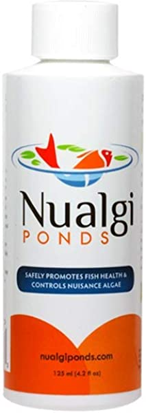Nualgi Ponds Natural Algae Control Water Clarifier Algaecide Alternate 100 Safe For All Fish Plants Animals 1 X 125ml
