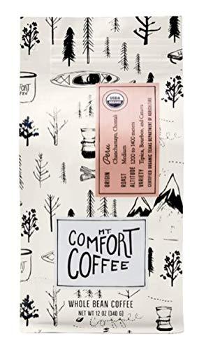Mt. Comfort Coffee Organic Peru Medium Blend, 12 oz Bag - Roasted Whole Beans