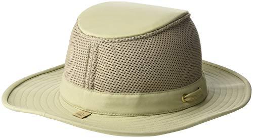 Tilley Mens Womens LTM8 Water Repellant Sun Protection Guaranteed for Life Airflo Mesh Hat Khaki