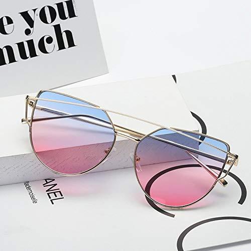 MOJINGYAN Zonnebrillen,2019 Snoepjes Zonnebril Vrouwen Ocean Lens Zonnebril Klassieke Retro Winkelen Blauw Roze