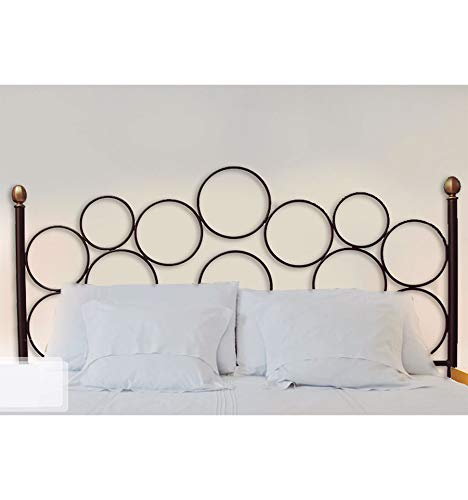 Forja Hispalense Cabecero de Dormitorio Pineda - Blanco, Cabecero para colchón de 150 cm