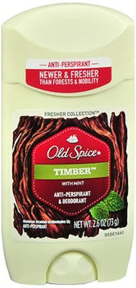 Old Spice Fresher Collection Anti-Perspirant & Deodorant Timber - 2.6 oz, Pack of 3