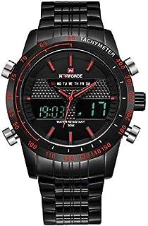نافي فورس ساعة رسمية للرجال ال اي دي ستانلس ستيل - 34433