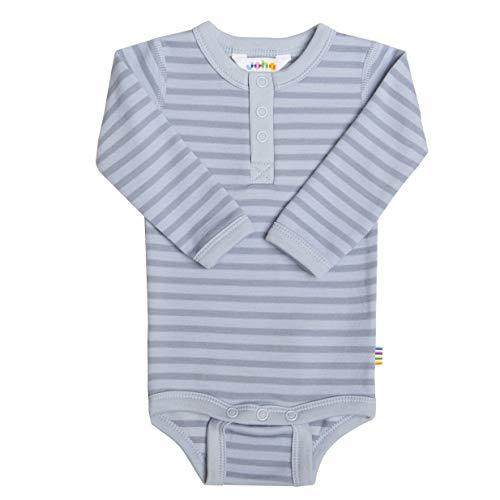 Joha Body à manches longues en laine mérinos et coton bio pour bébé garçon - Bleu - 80