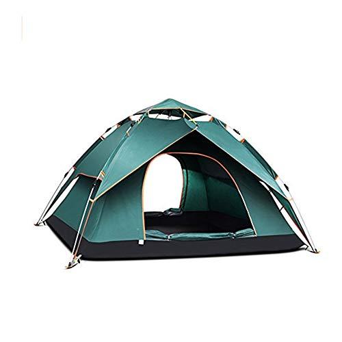 GFE Tienda al Aire Libre, Tienda de campaña Familiar para 3-4 Personas Pop Up Dome Carpas para Puertas Dobles al Aire Libre con mosquiteros,