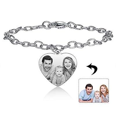 Amazon - Save 15%: kaululu Custom Photo Bracelet for Women Adjustable Personalized B…