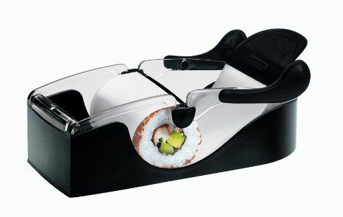 Leifheit Perfect Roll, Sushi Maker Set, professionelles Sushi für Anfänger und Profis, inkl. Rezeptheft, Küchenhelfer ideal zum verschenken, Sushi Set zum selber machen, Sushi roller, schwarz