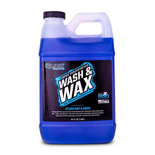 Slick Products Wash & Wax Super Concentrated Car Wash Foam Shampoo for Car, Truck, RV, Motorhome,...