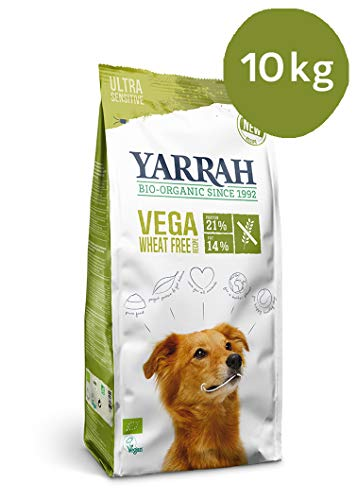 Yarrah Bio Hunde Trockenfutter Vega Weizenfrei, 1er Pack (1 x 10000 g)