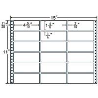 東洋印刷 タックフォームラベル 15インチ ×11インチ 18面付(1ケース500折) M15B