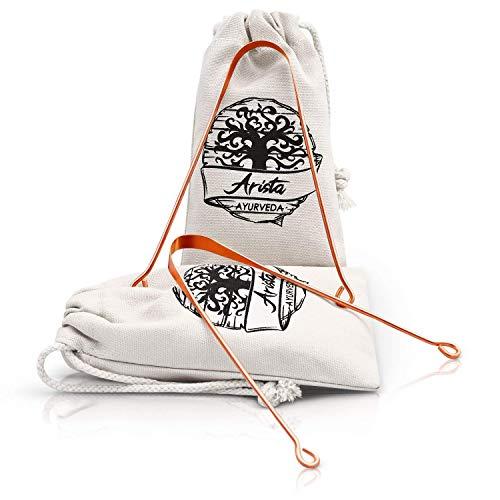 Limpiador de Lengua de cobre | Yoga & medicina Ayurveda | raspador de lengua |...
