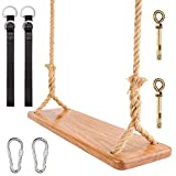 Wooden Swing Yangbaga Hanging Tree Swings, Wood Swings Seat...