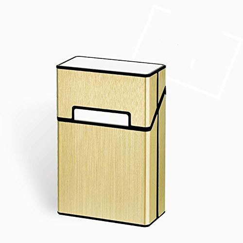 UNU_YAN Portasigarette in Alluminio Spazzolato, Scatola Rigida e Supporto con Chiusura a Vibrazione Magnetica Solida Superiore, portasigarette Anti-umidità a Prova di umidità.