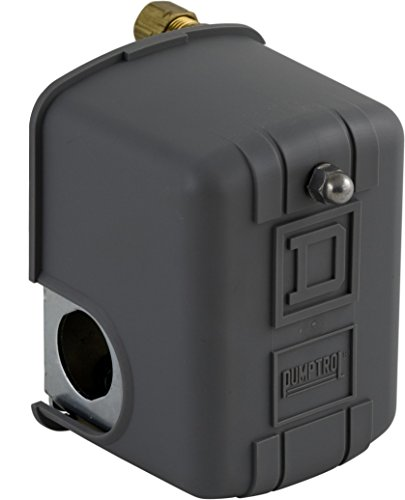 Square D by Schneider Electric 9013FHG12J55X Air-Compressor Pressure Switch, 150 Psi Set Off, 30 Psi Fixed Differential, 1/4' Npsf Internal, 2-Way Release Valve
