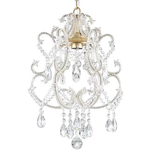 Tablelamp-SZQ Elegante lamp, kristallen hanger, kaptafel, kroonluchter, kleedkop, kleine verlichting, diameter 35 cm, 45 cm, ketting 40 cm, hoogte verstelbaar