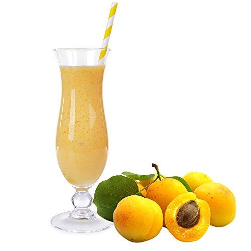 Aprikose Molkepulver Luxofit mit L-Carnitin Protein angereichert Aspartamfreier Wellnessdrink (333 g)